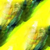 Vert clair art, jaune, fond de singe texture aquarelle se — Photo