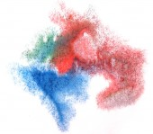 Art watercolor red, blue, green ink paint blob watercolour splas — Stock Photo