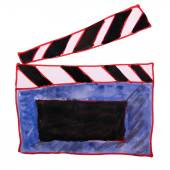 Watercolor drawing kids cartoon clapper on white background — Foto de Stock