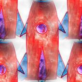壁画的无缝模式红色火箭背景纹理 — 图库照片
