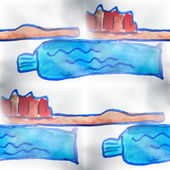 Mural background seamless  pattern toothbrush, toothpaste backgr — Stockfoto