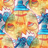 Mural seamless Sugar mechanism pattern background tex — Stockfoto