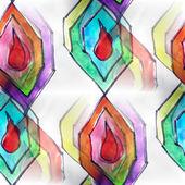 Mural colored diamonds seamless pattern background  t — Stockfoto