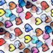 Mural a lot of hearts seamless pattern background  te — Stock Photo #61921507