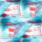 Mural seamless  pattern blue plane background texture — Stockfoto