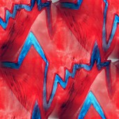 Mural  seamless heart and pulse pattern background — Stockfoto