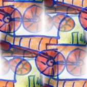 Mural  seamless locomotive pattern background  textu — Stockfoto
