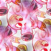 Mural  seamless pig pattern background  texture wall — Стоковое фото