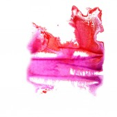 Abstract Red, violet drawing stroke ink watercolor brush water c — Stock Photo