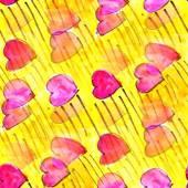 Mural hearts seamless pattern background  texture wallpaper orna — Stok fotoğraf