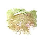 De groene tekening lijn inkt aquarel borstel water abstract — Stockfoto