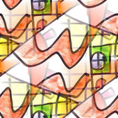 Mural seamless pattern background road and house texture wallpap — Foto de Stock