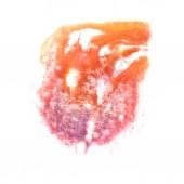 Art Orange, violet watercolor ink paint blob watercolour splash — Foto de Stock