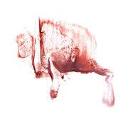 Art The brown watercolor ink paint blob watercolour splash color — Stock Photo