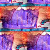 Mural  background  seamless bathtub pattern  texture — Stock Photo