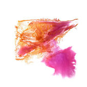 Abstract Orange, pink drawing stroke ink watercolor brush — 图库照片