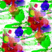 Green blue red watercolor texture painting colorful background w — Stock Photo