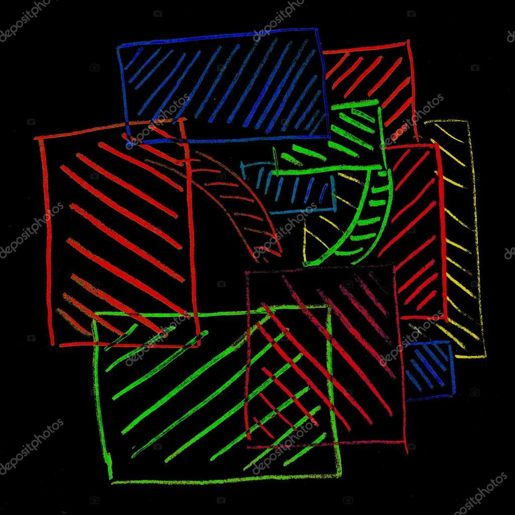 Векторный фон с цветными линиями | Векторы