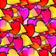 Seamless texture of heart of Valentines Day Background — Stock Photo #63589437