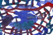 Macro texture purple watercolors with brush strokes — Stock Photo