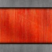 Rouge, peinture, rouillée vieux fer fond mur grunge tissu abstrac — Photo