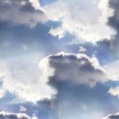 Seamless cloud sky blue wallpaper texture — 图库照片