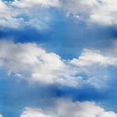 天空无缝云蓝色壁纸纹理 — 图库照片