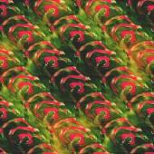 Texturizado ba sem costura aquarela paleta verde, vermelho foto moldura — Fotografia Stock