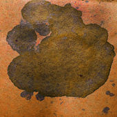 Watercolor abstract background brown paint color blob design spl — Stock Photo