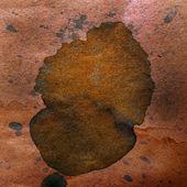 Aquarell abstrakt malen Farbe braun Blob Entwurf spl — Stockfoto