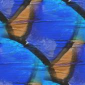Ornamento blu, giallo grunge texture, acquerello backgr senza soluzione di continuità — Foto Stock