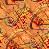 Pattern design yellow, red seamless watercolor texture backgroun — Stock Photo