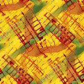 Patroon ontwerp naadloze geel, rood, groen aquarel texture ba — Stockfoto