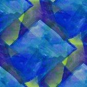Modello progettazione seamless texture acquerello sfondo verde, blu — Foto Stock