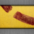 Metal yellow old iron red background rusty surface — Stock Photo #65382551