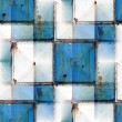 Seamless background with blue iron rust square — Stock Photo #65385173