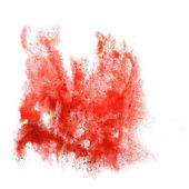 Ink red blot splatter background isolated on white hand painted — Stock Photo