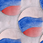 Blots rosiyssky flag on a gray background  watercolor painting s — Stock Photo