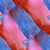 Blots blue, pink arrows watercolor painting seamless background — Stock Photo