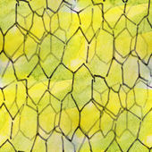 Blots yellow polygons watercolor painting seamless background — Stok fotoğraf