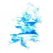 Blot divorce illustration Dark blue artist of handwork is isolat — Stock Photo