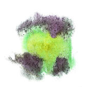 Abstract Green, yellow, lilac isolated watercolor stain raster i — Stock Photo