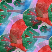 Blots grove watercolor painting seamless background — Stock Photo