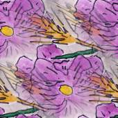 Blots purple flower watercolor painting seamless background — ストック写真