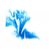 Blot divorce illustration blue artist of handwork is isolated on — Stock Photo