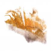 Ink blot brown, gray splatter background isolated on white hand — Foto de Stock
