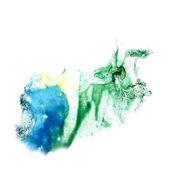 Blot divorce illustration green, yellow, blue artist of handwork — Stock Photo