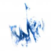 Stain with watercolour blue  paint stroke watercolor isolated — Stock Photo