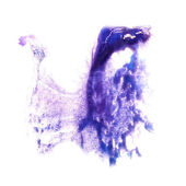 Stain with watercolour lilac paint  stroke watercolor isolated — Stock Photo