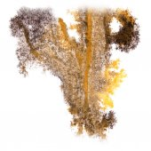 Abstract watercolor background yellow, black for your design ins — Stock Photo